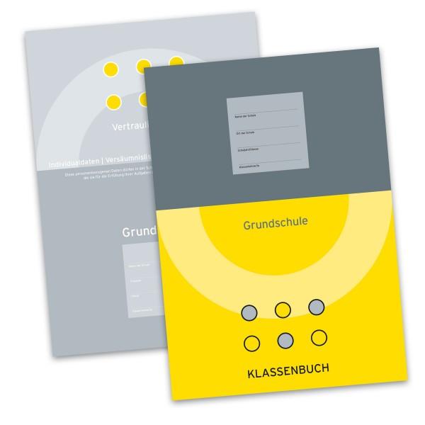 Klassenbuch für die Grundschule wöchentlicher Bericht (Gelb) inkl. Vertraulicher Teil