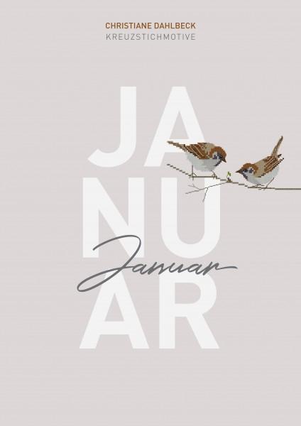 Leaflet Januar, Kreuzstichmotive