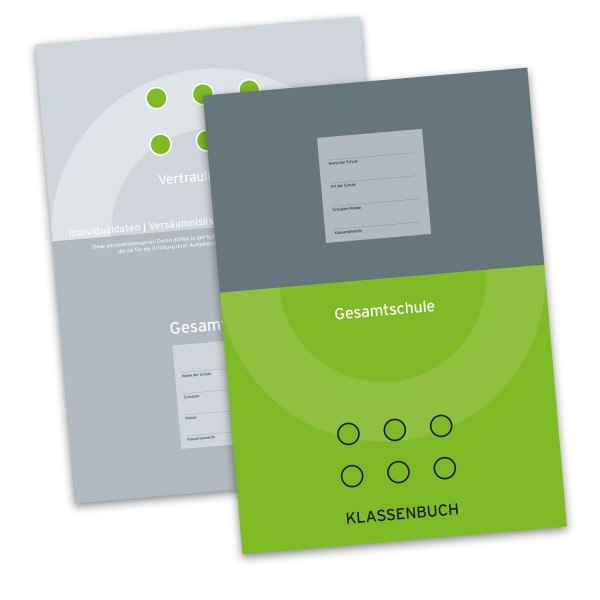 Klassenbuch für die Gesamtschule (Grün) inkl. Vertraulicher Teil