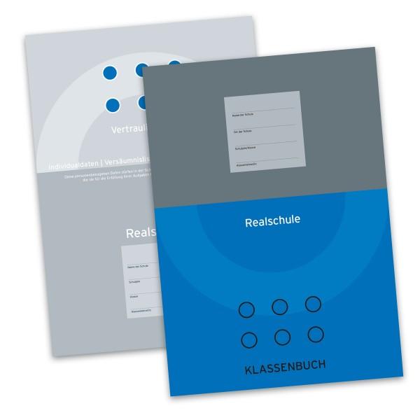 Klassenbuch für die Realschule (Blau) inkl. Vertraulicher Teil
